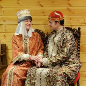 Царская семья в Коломенском дворце